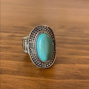 Jewelry - Turquoise Ring with Stretchy Band
